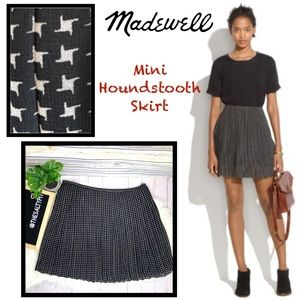 Just In! Madewell Mini Houndstooth Skirt, Sz 6